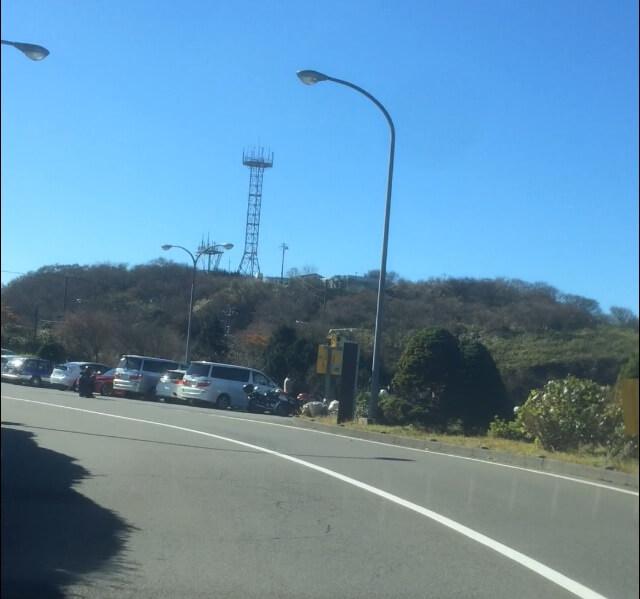 箱根ターンパイクの大観山駐車場