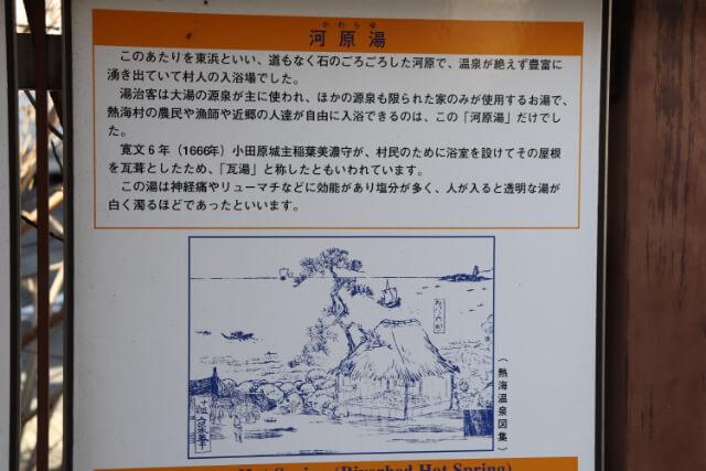 熱海七湯河原の湯の解説