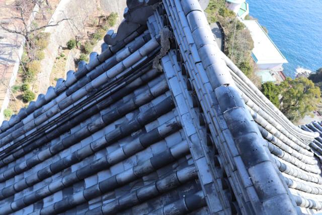 熱海城天守閣の瓦