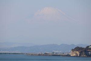 稲村ケ崎公園からの富士山