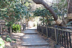 稲村ケ崎公園の奥へ続く道