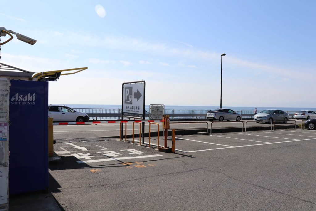 稲村ケ崎の駐車場