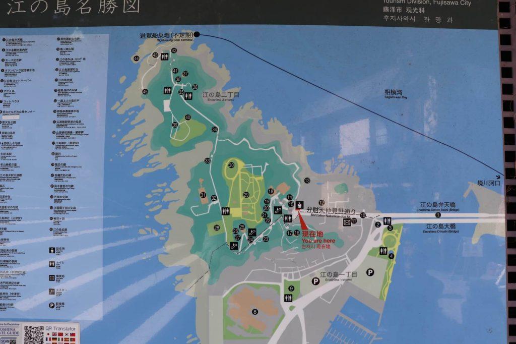 江ノ島のマップ