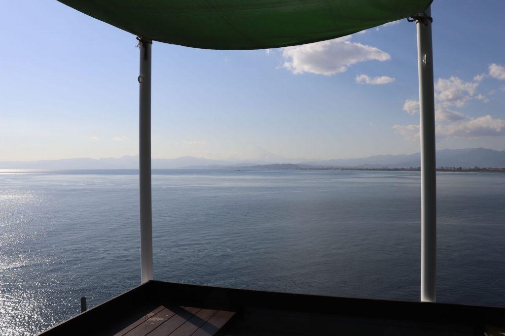 江ノ島魚見亭からの景色と富士山