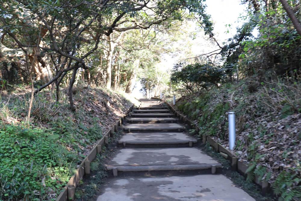江ノ島恋人の丘に続く道