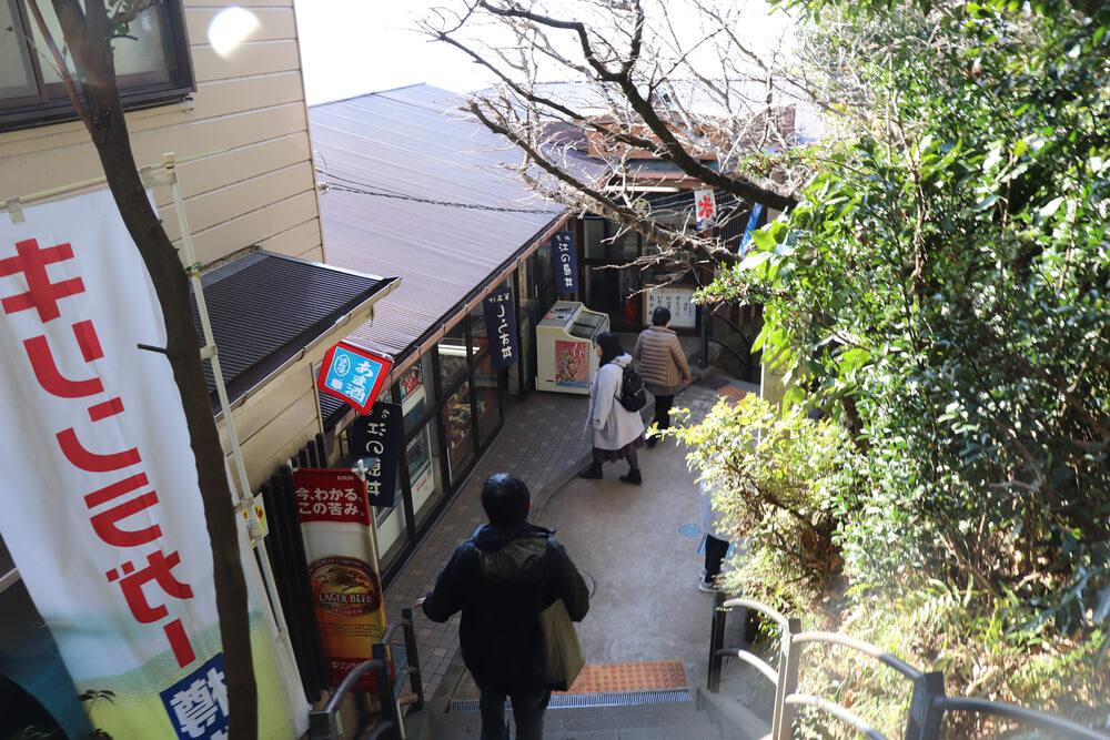 江ノ島富士見亭付近