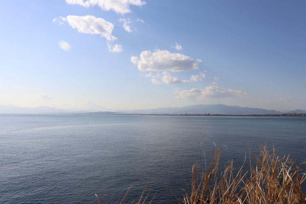 江ノ島稚児が淵からの富士山