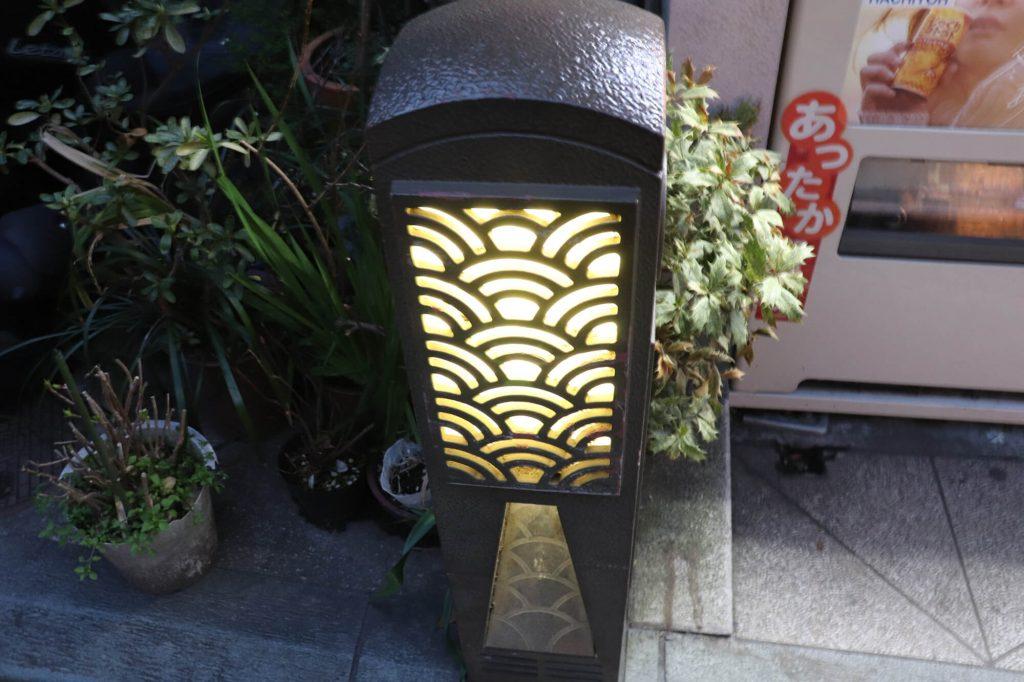江ノ島の参道にある灯り