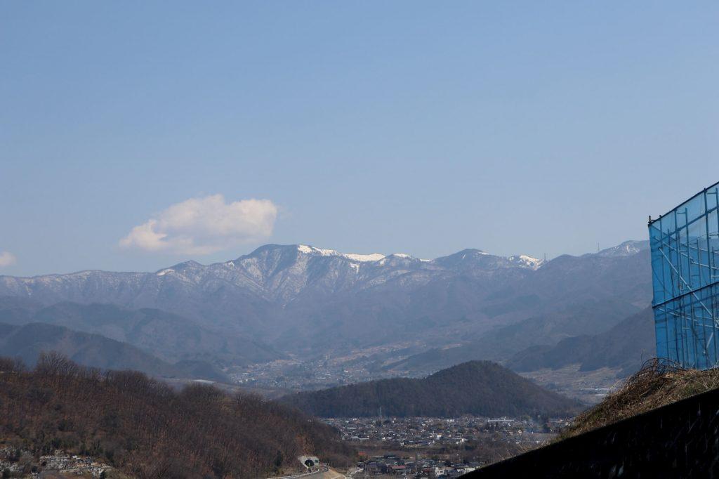 イチゴランドから見える大菩薩峠