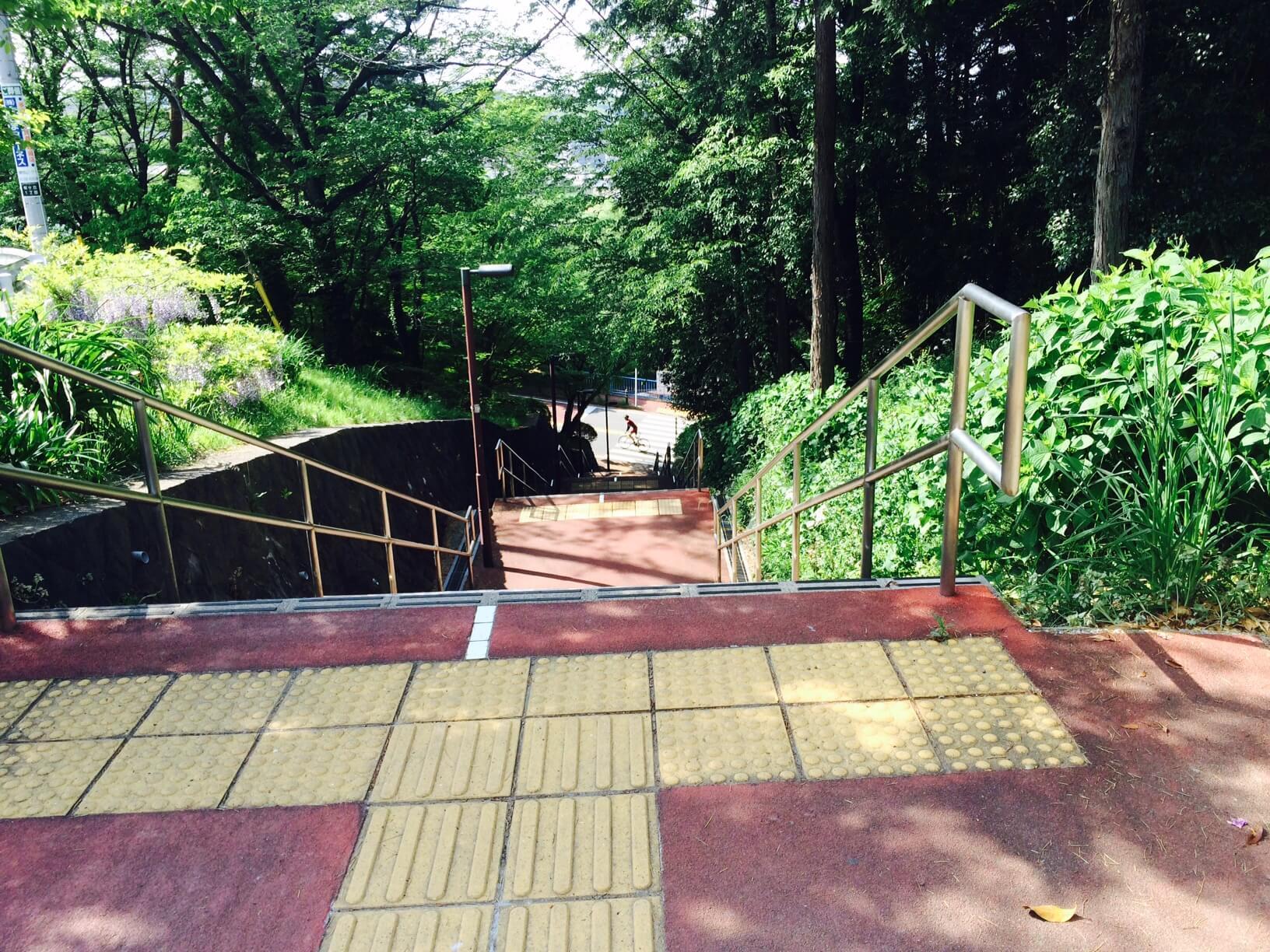 いろは坂の階段