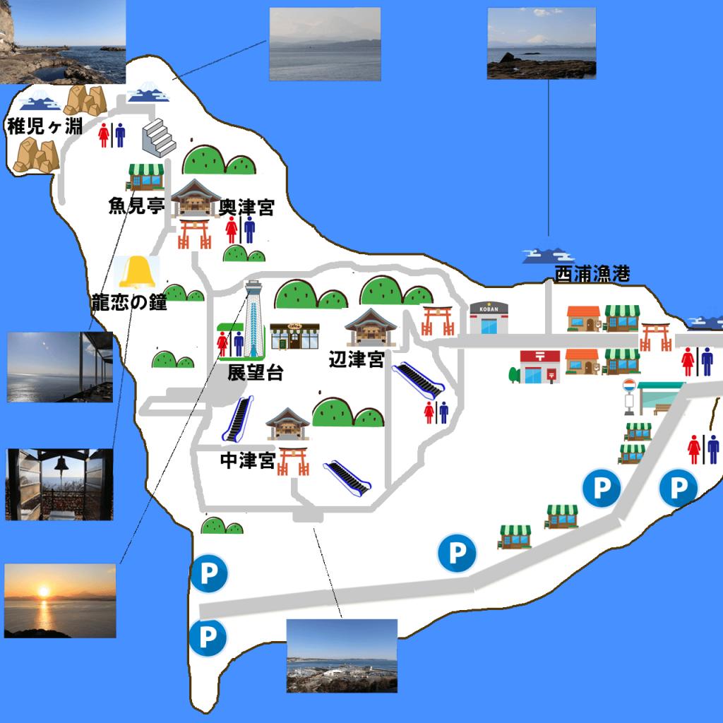 江ノ島の観光マップ