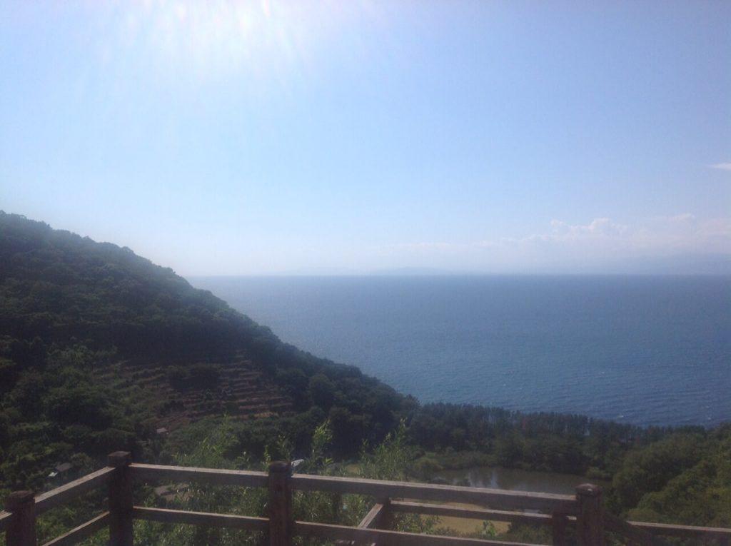 井田煌めきの丘から見える駿河湾