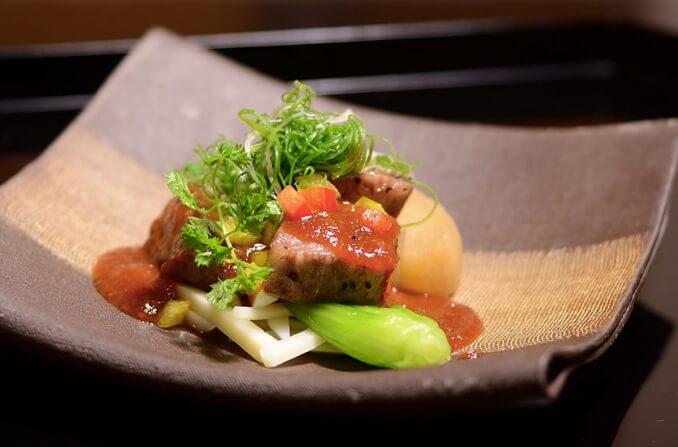 飛騨高山の高級旅館 八ツ三館の食事