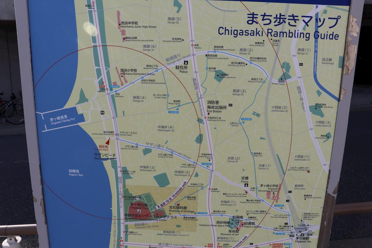 サザンビーチ茅ヶ崎のマップ