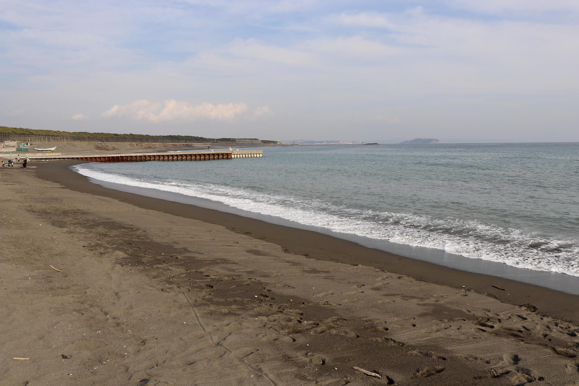 サザンビーチ茅ヶ崎の海岸線
