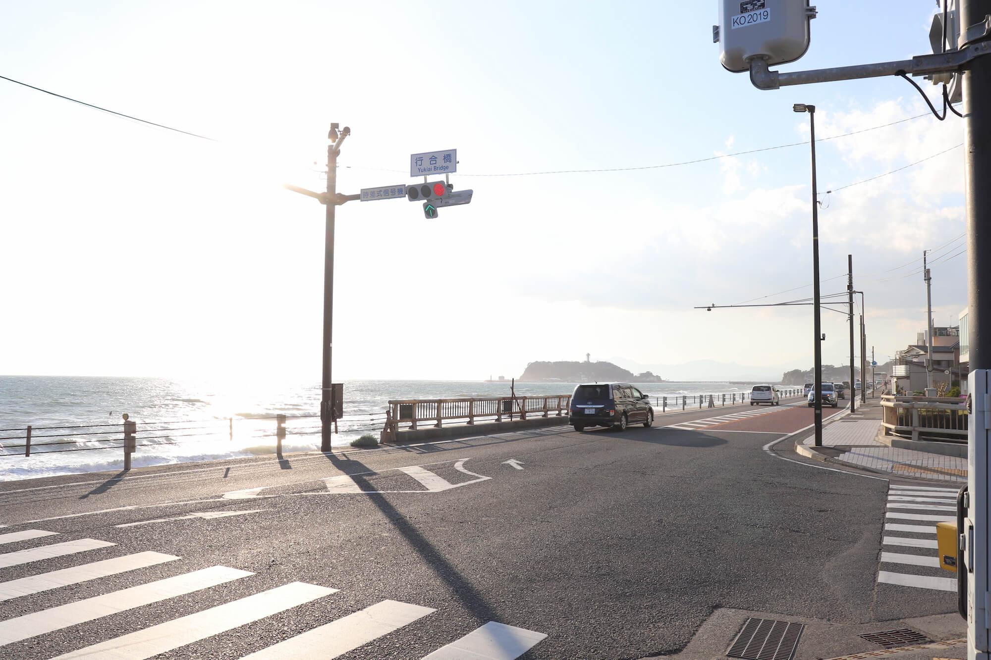 七里ガ浜と国道134号線