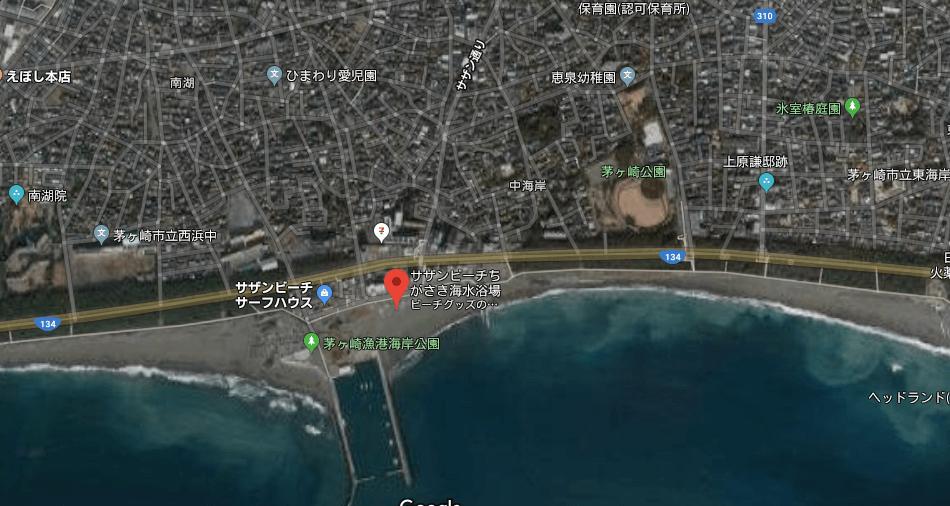 サザンビーチ茅ヶ崎の地図