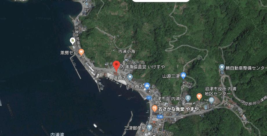 沼津内浦の地図
