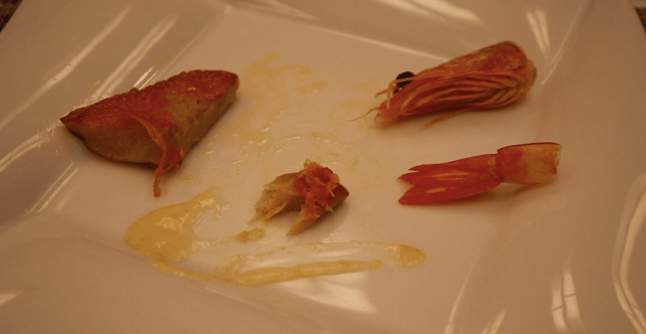 浜の湯の夕食の料理:金目鯛のポワレ