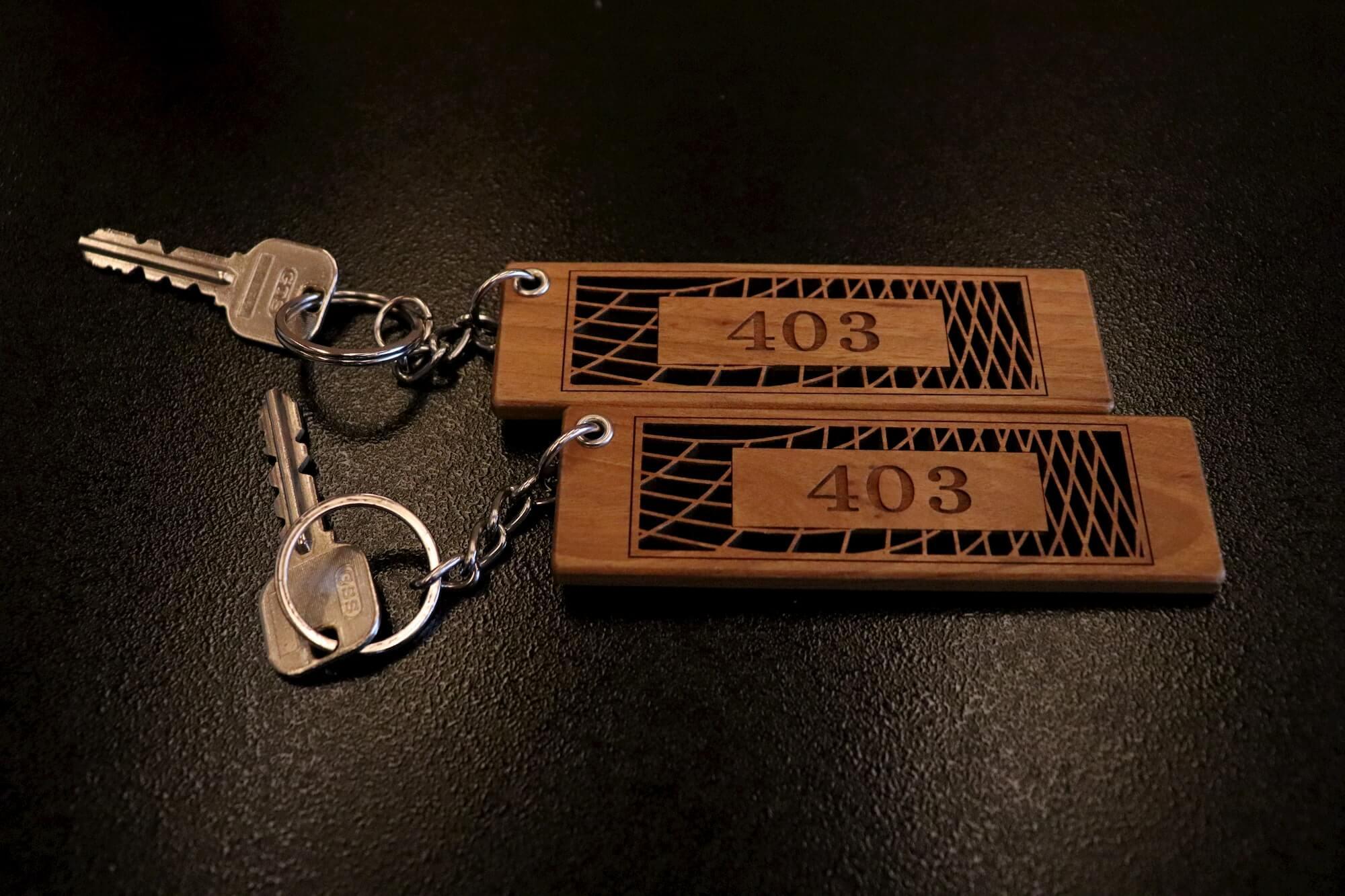 浜の湯の客室の鍵