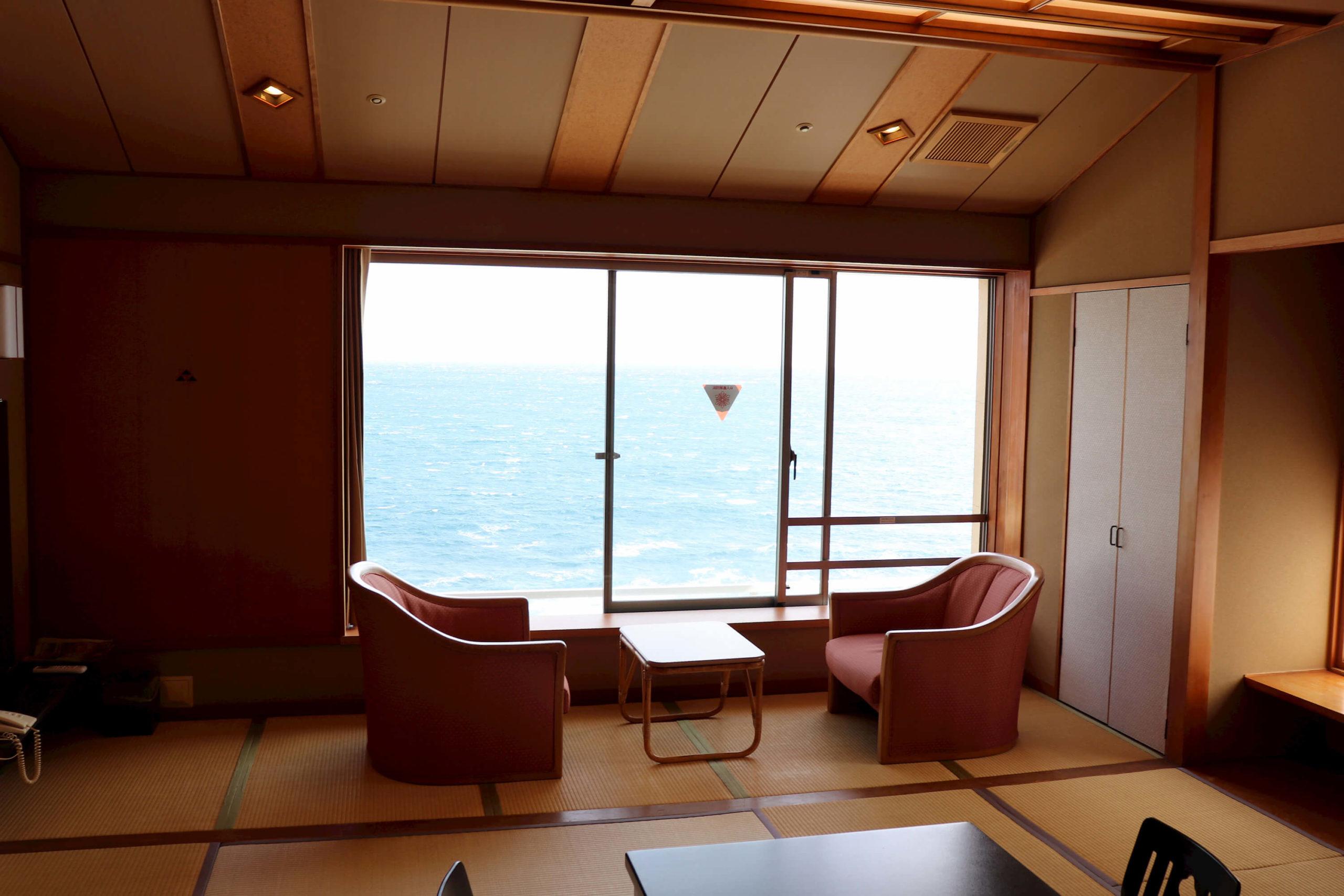 浜の湯の客室:海側標準客室