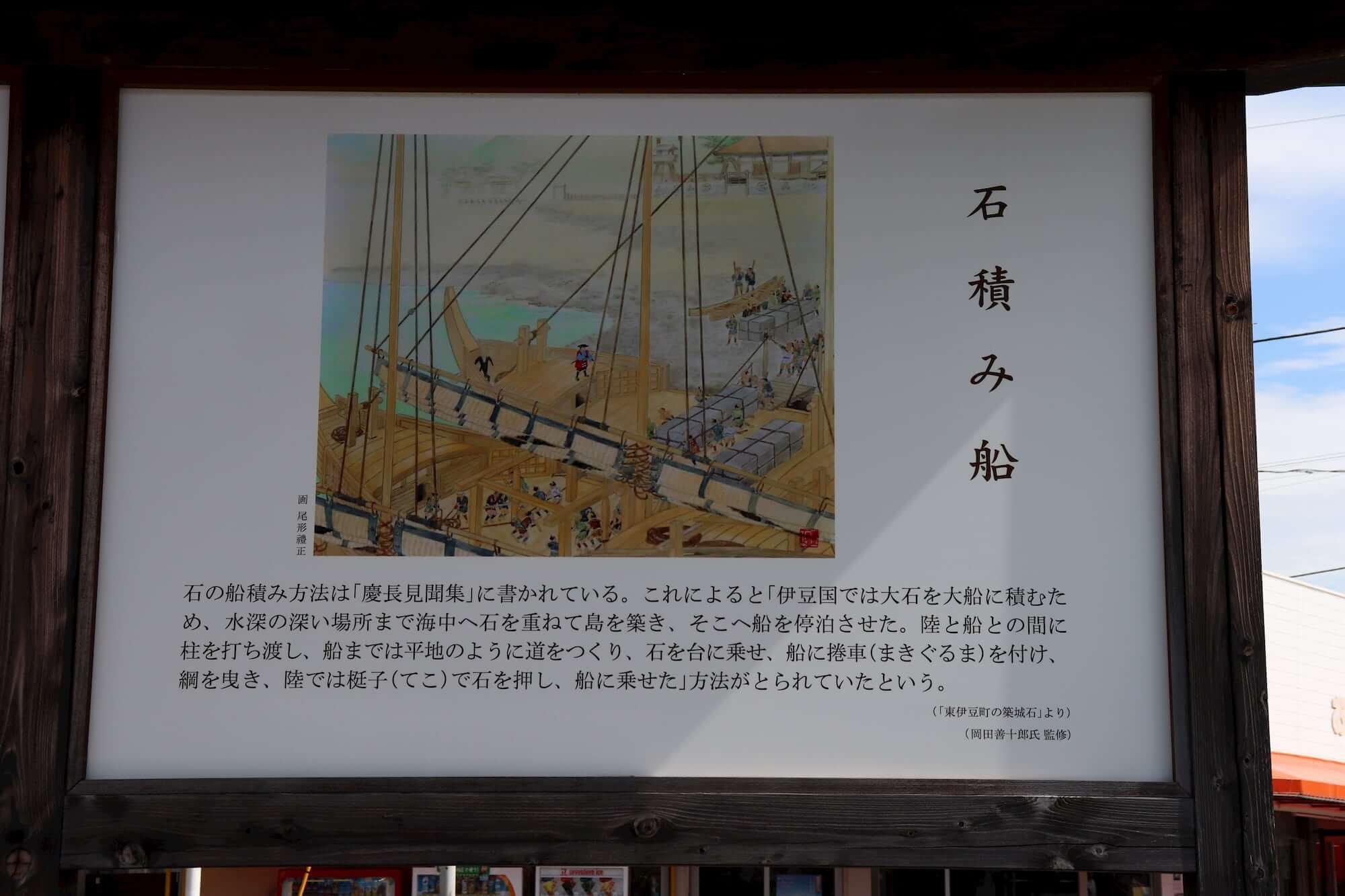 築城石の石積船