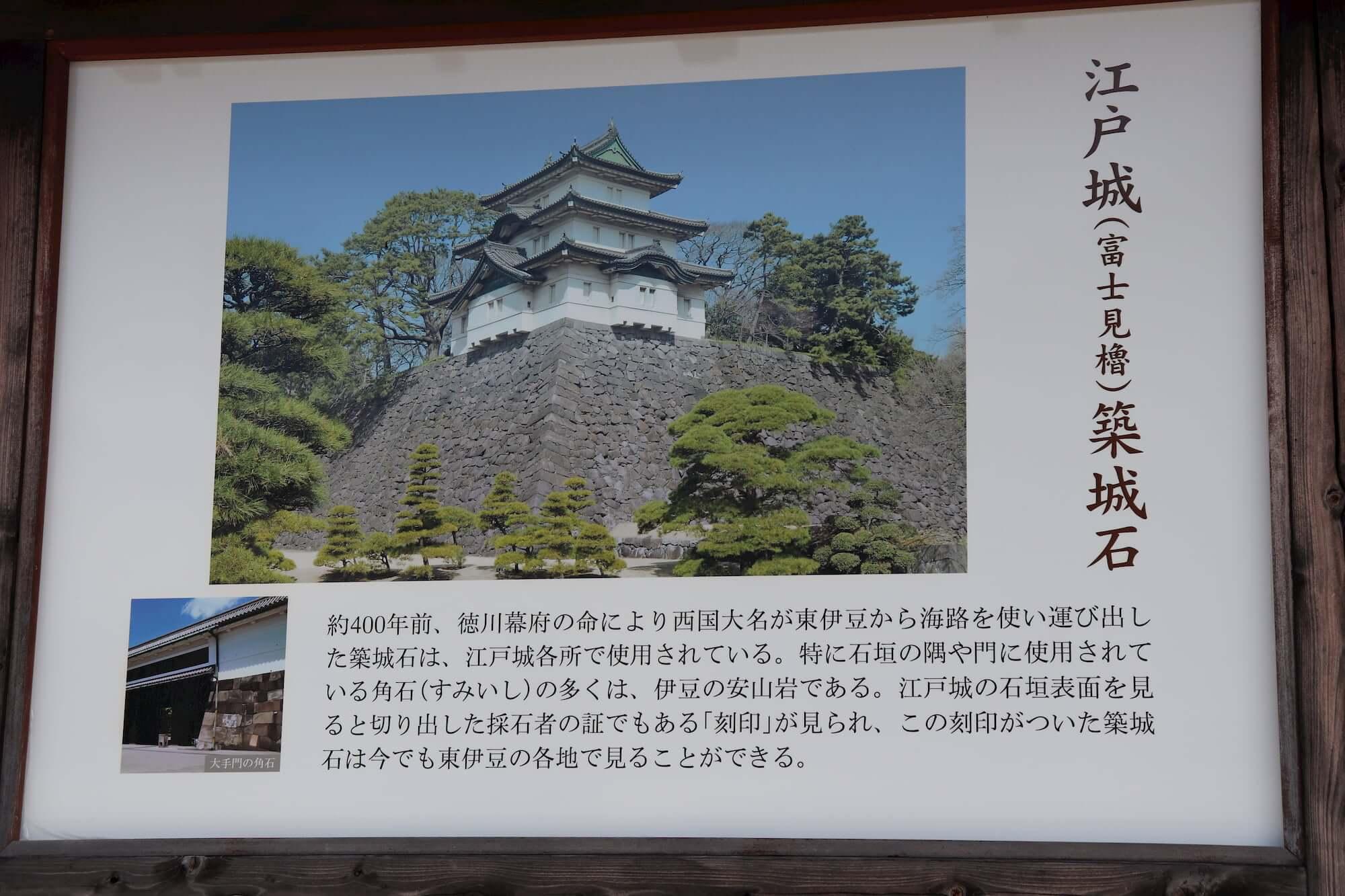 江戸城と築城石