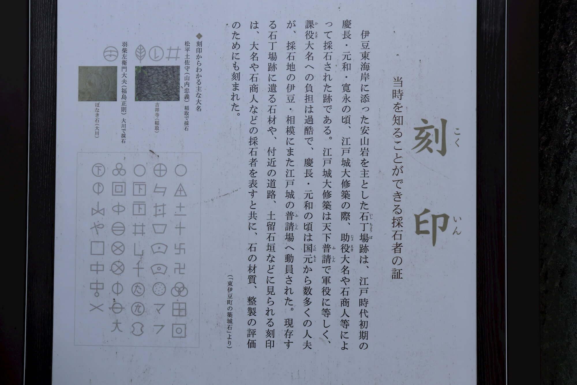 築城石の刻印