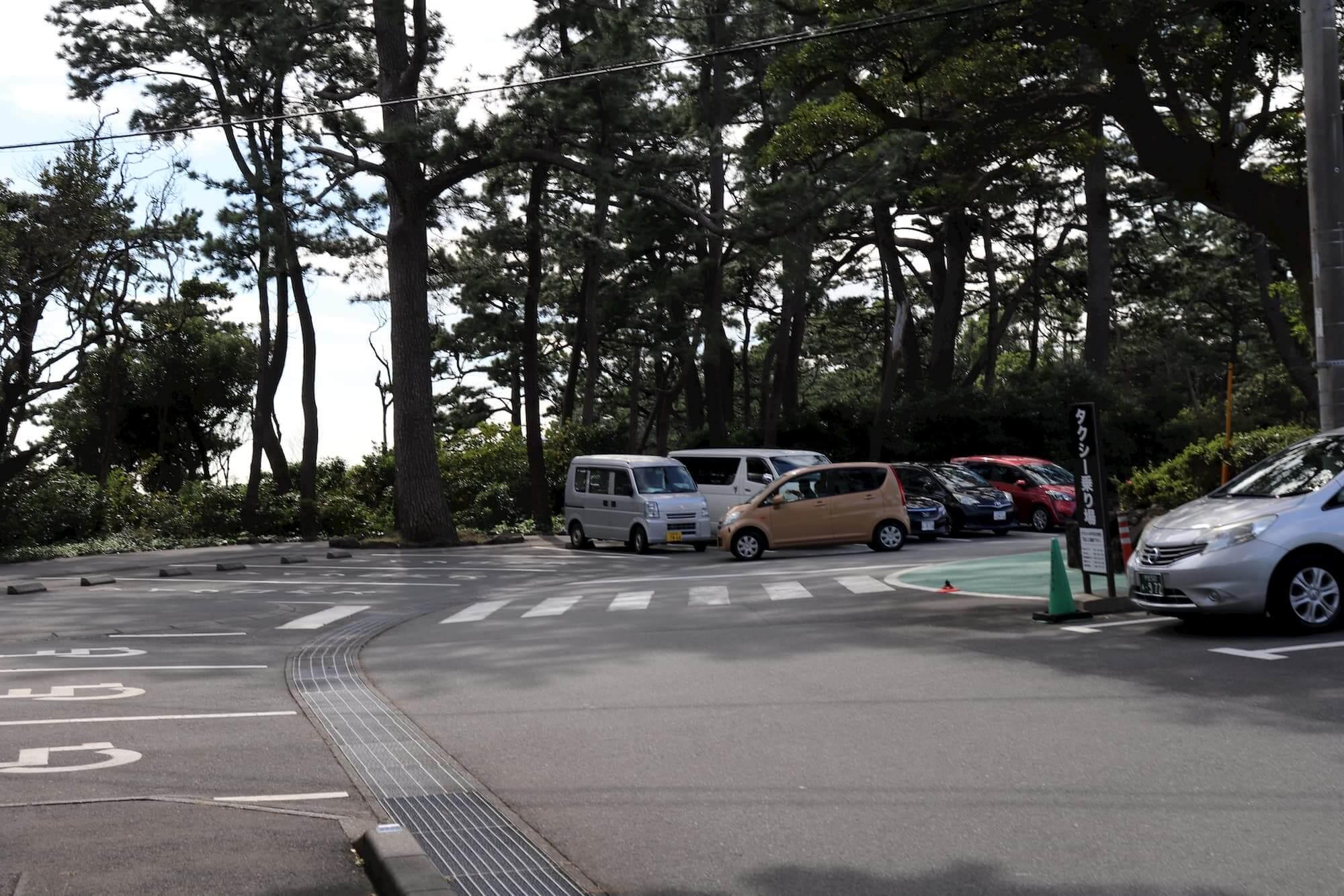 城ヶ崎海岸の駐車場