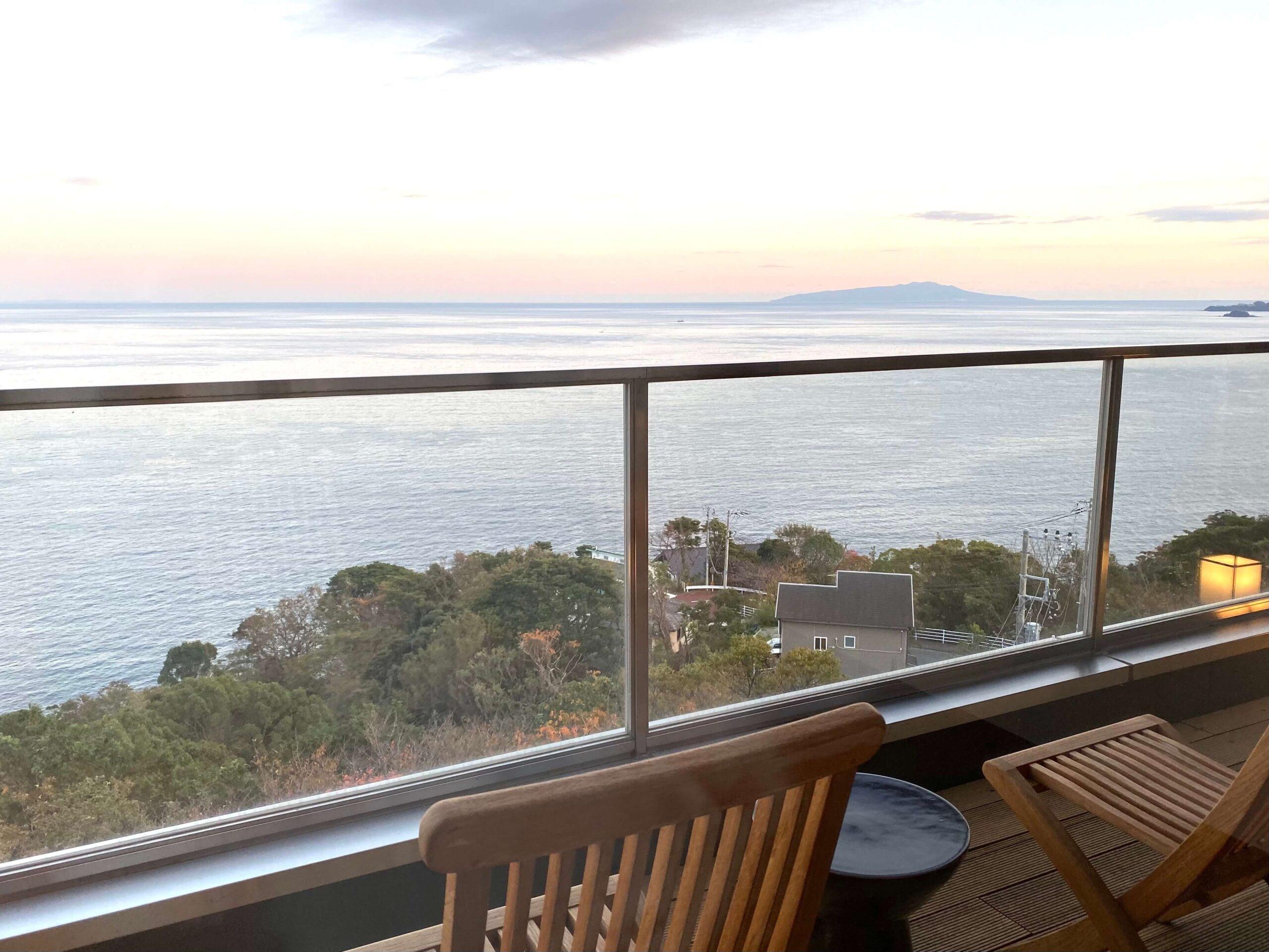 伊豆の高級旅館:熱海さんがの客室からの眺望(慶太ブログ)