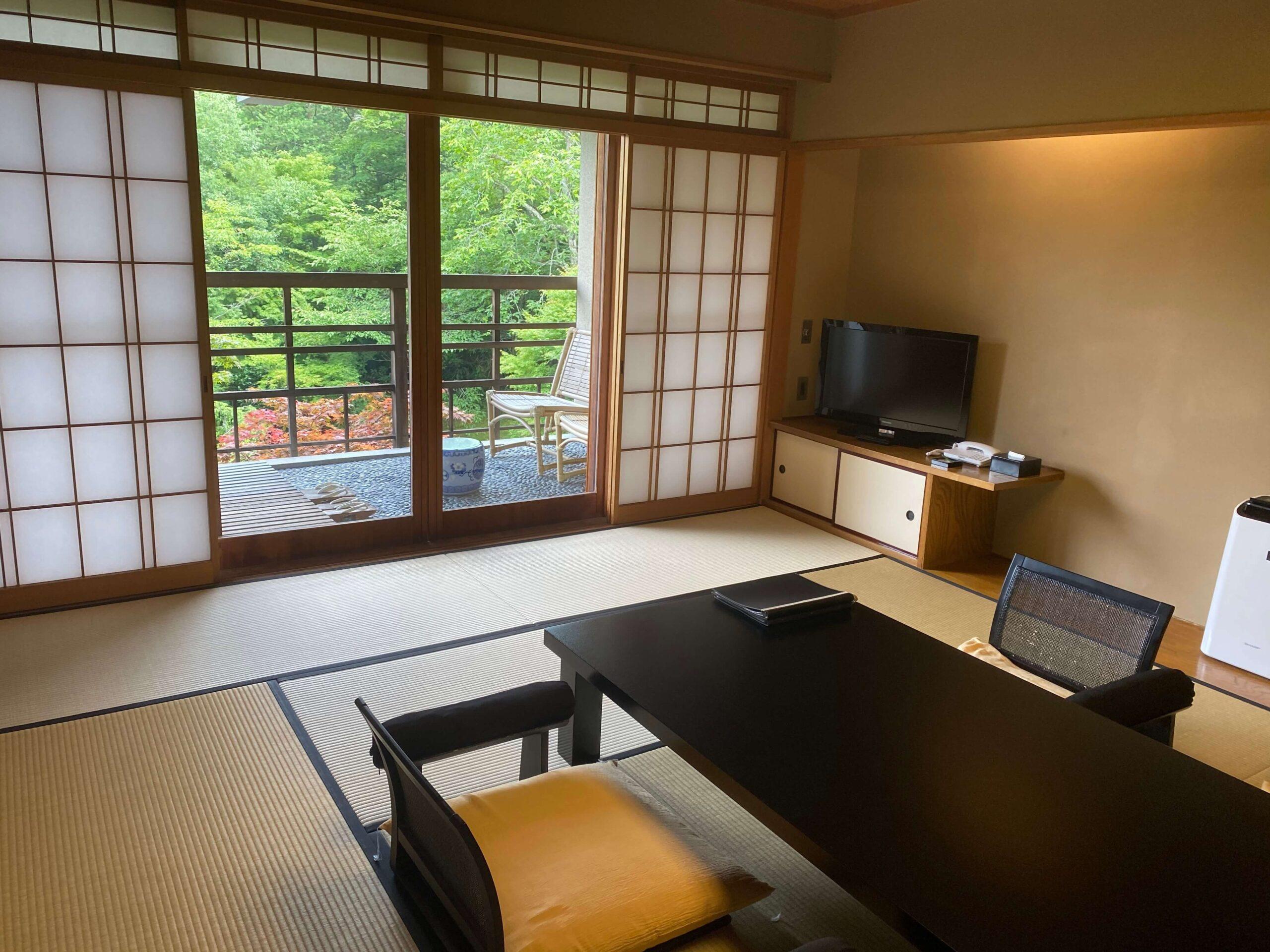 箱根の高級旅館、強羅花壇の客室(慶太ブログ)