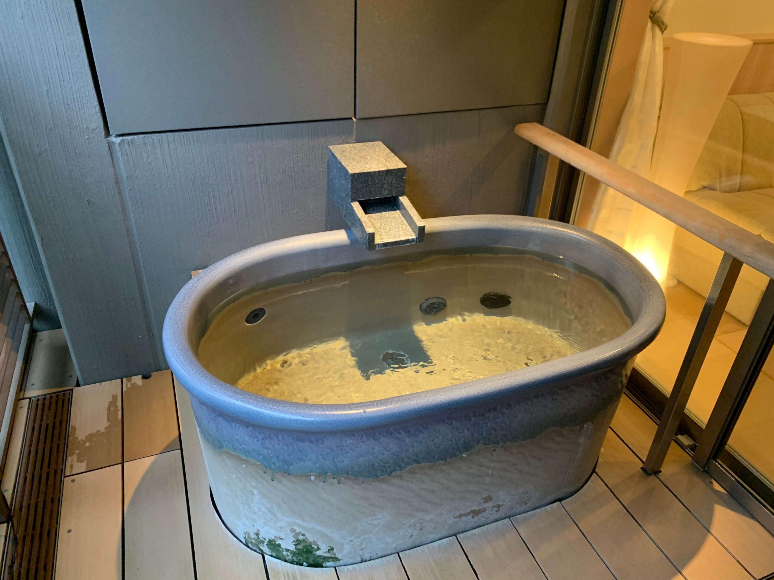 箱根はなをりの客室露天風呂