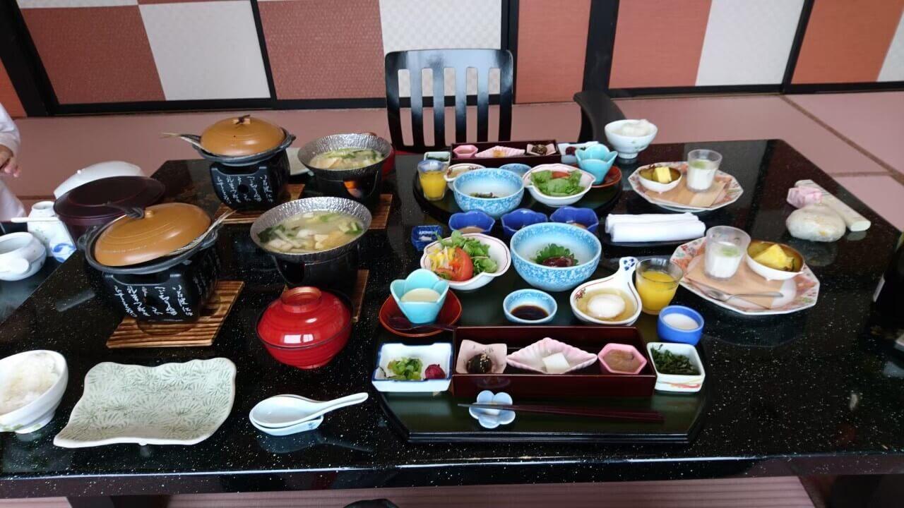 西伊豆の高級旅館、粋松亭の朝食(慶太ブログ)