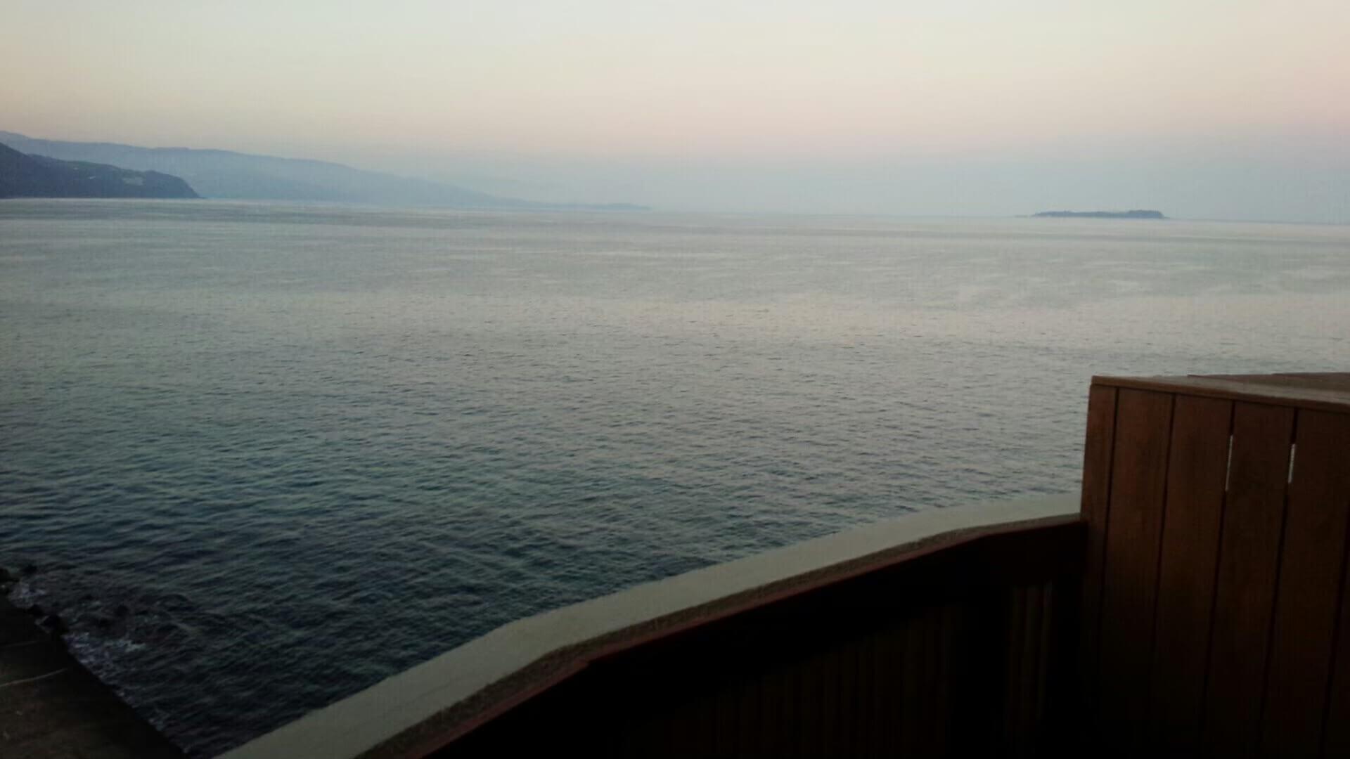 伊豆の高級旅館、風の薫の客室からの眺望(慶太ブログ)