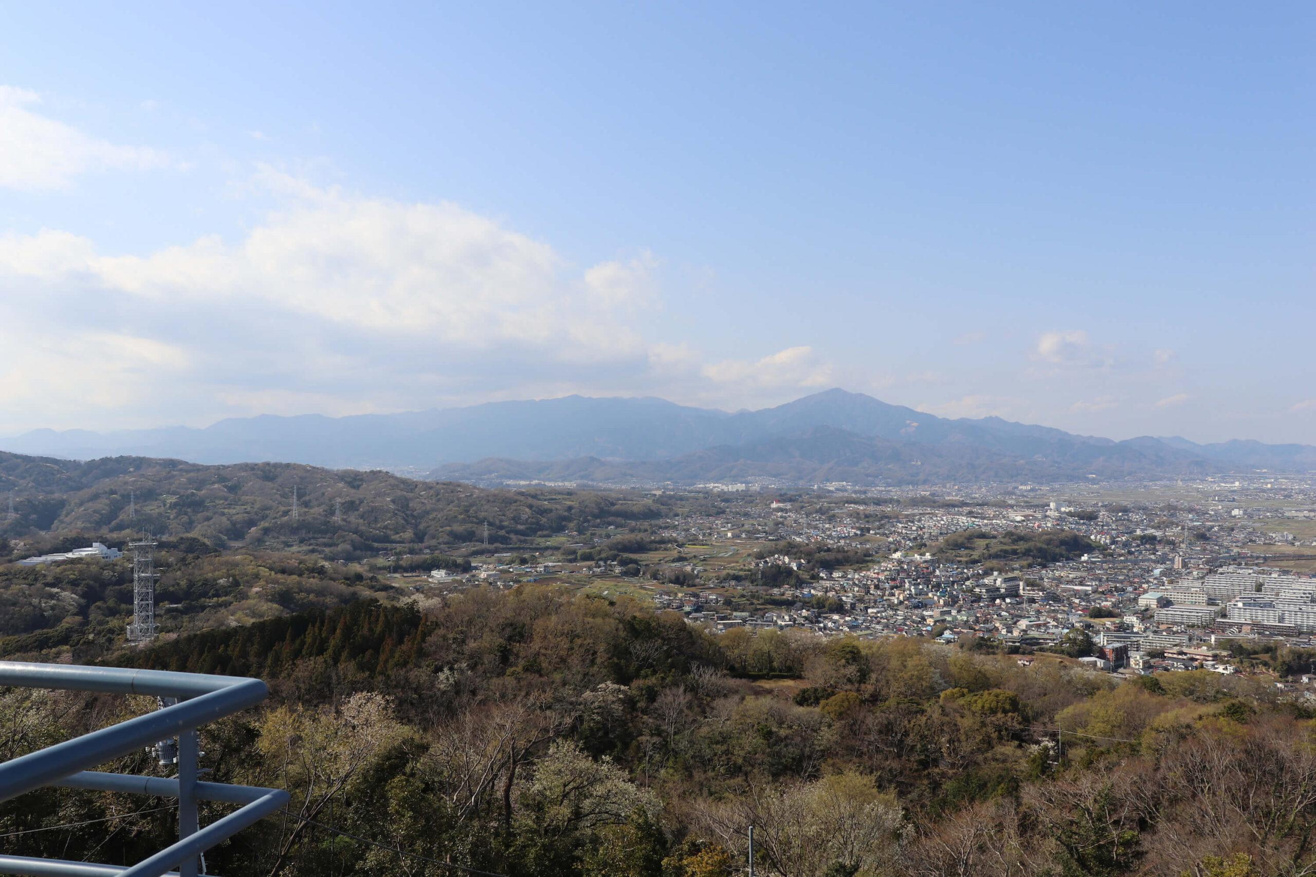 湘南平の眺め北方向