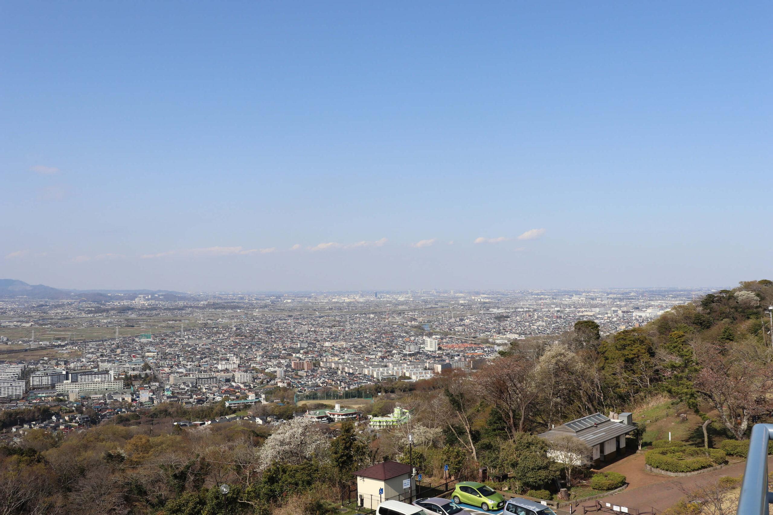 湘南平の眺め北東方向