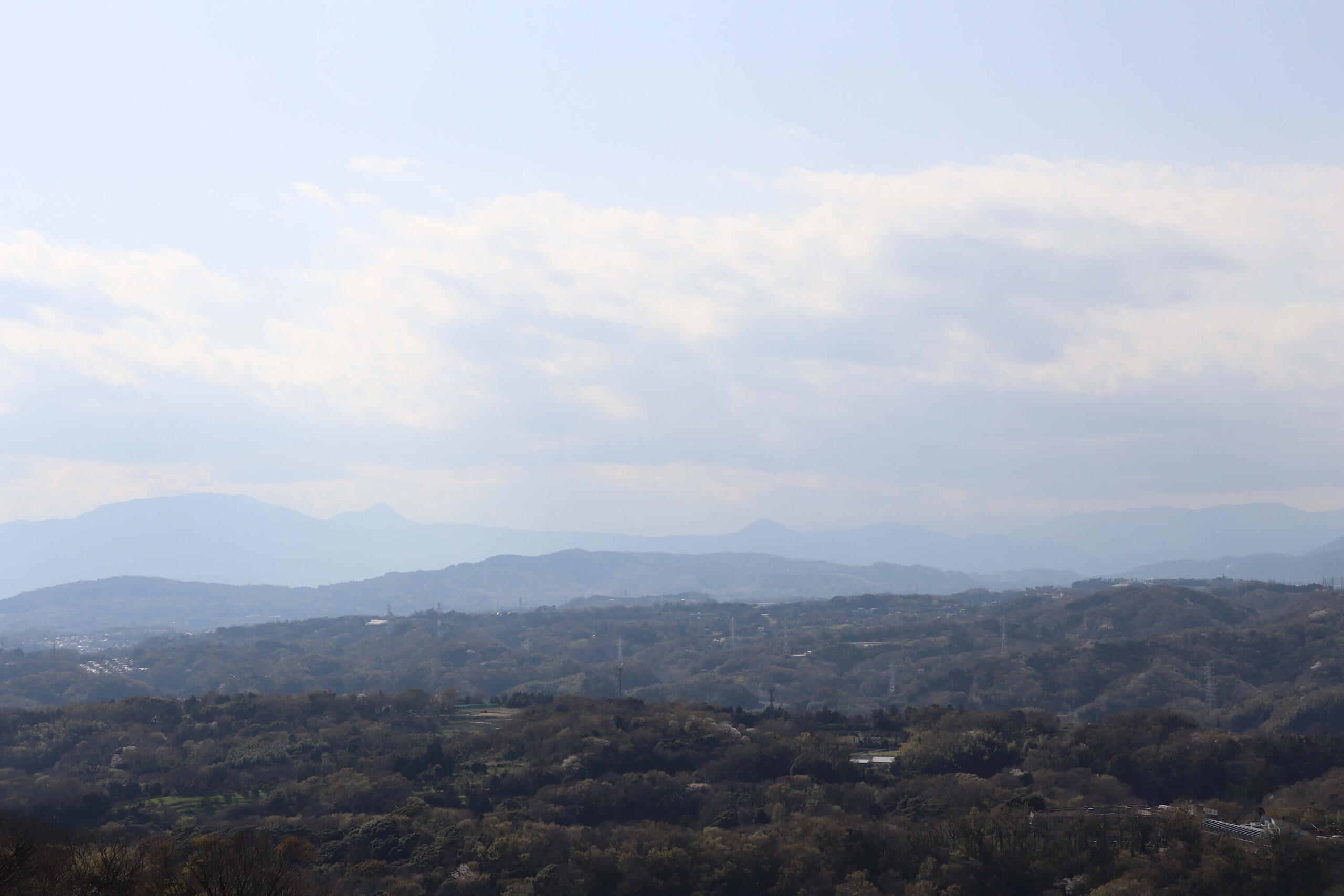 湘南平の眺め西方向