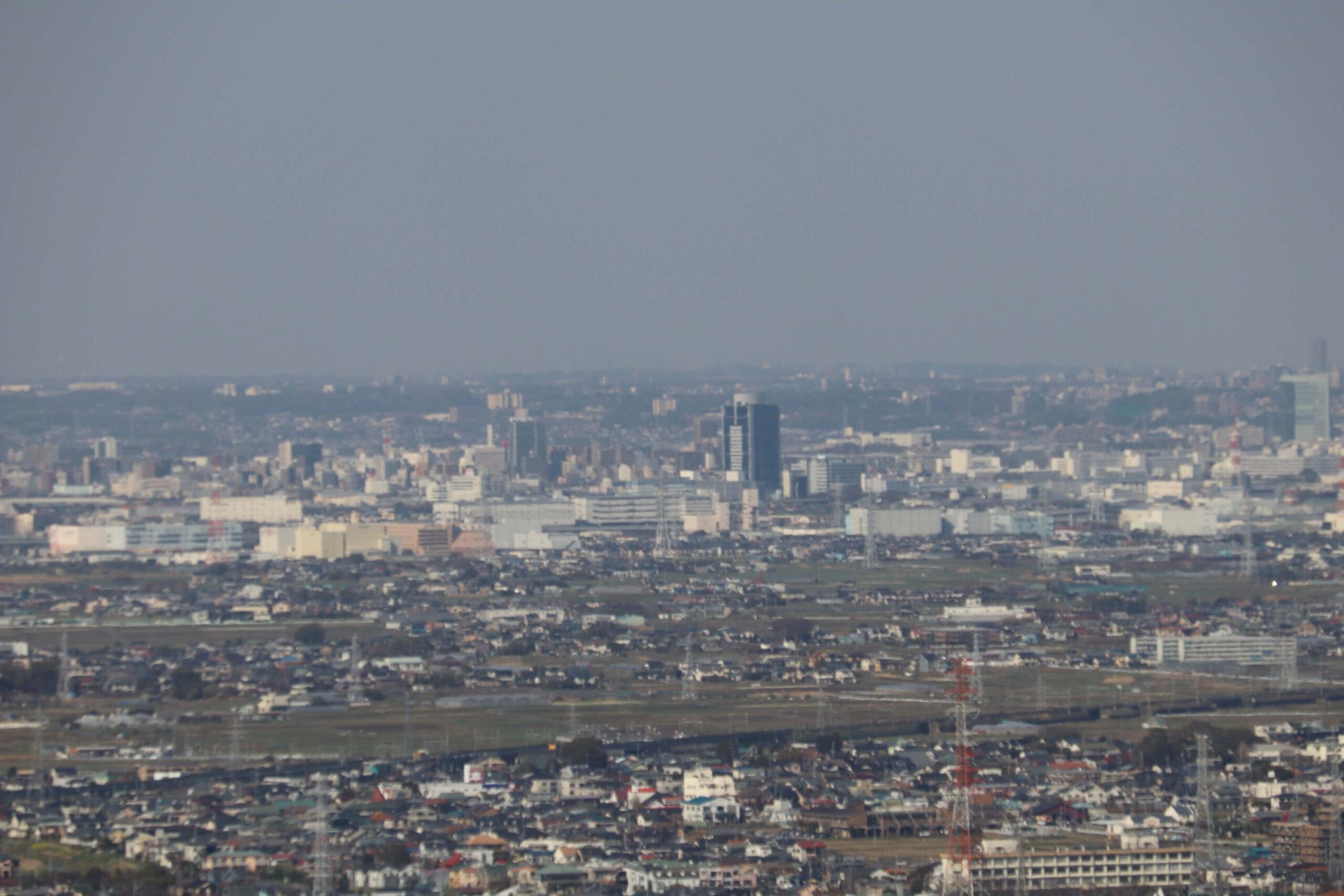 湘南平の眺め:厚木市街地