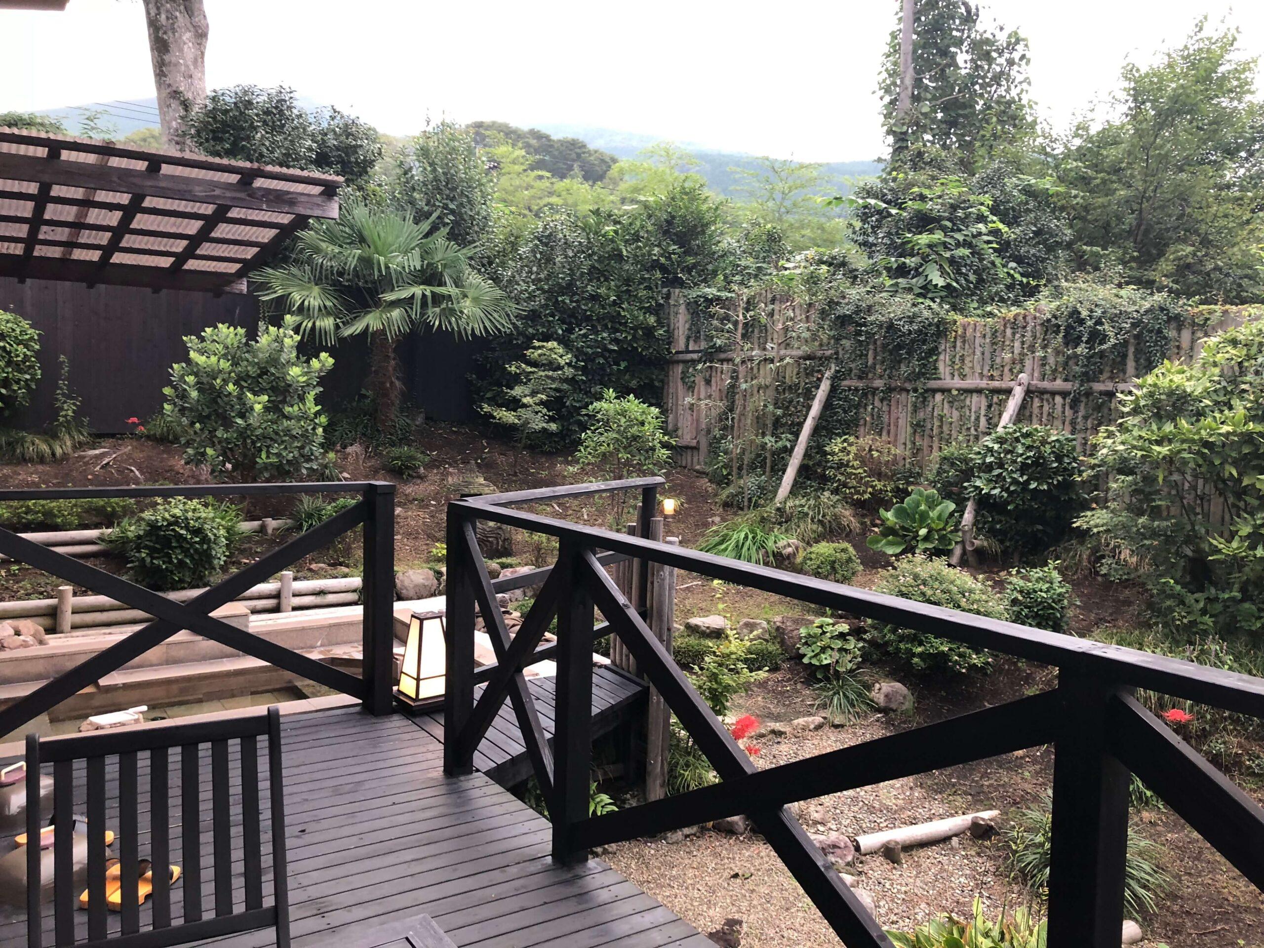 湯布院の高級旅館 YADOYAおおはし客室露天風呂(慶太ブログ)