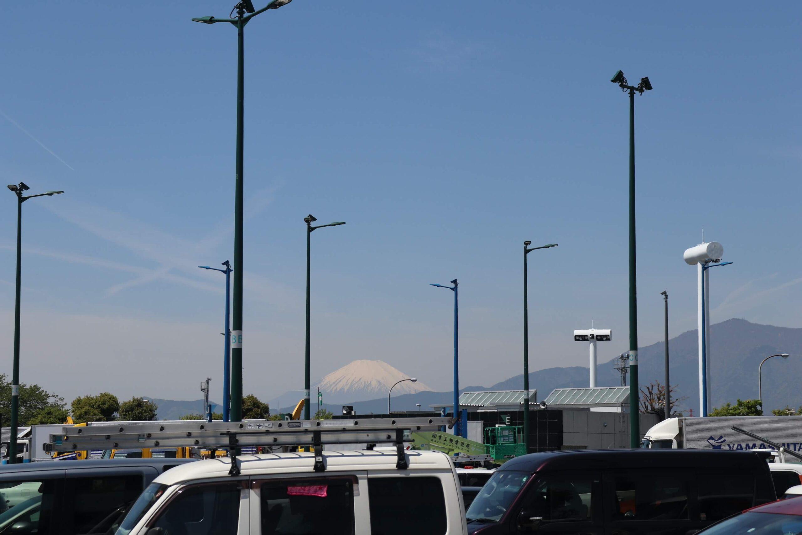 海老名SAから見える富士山