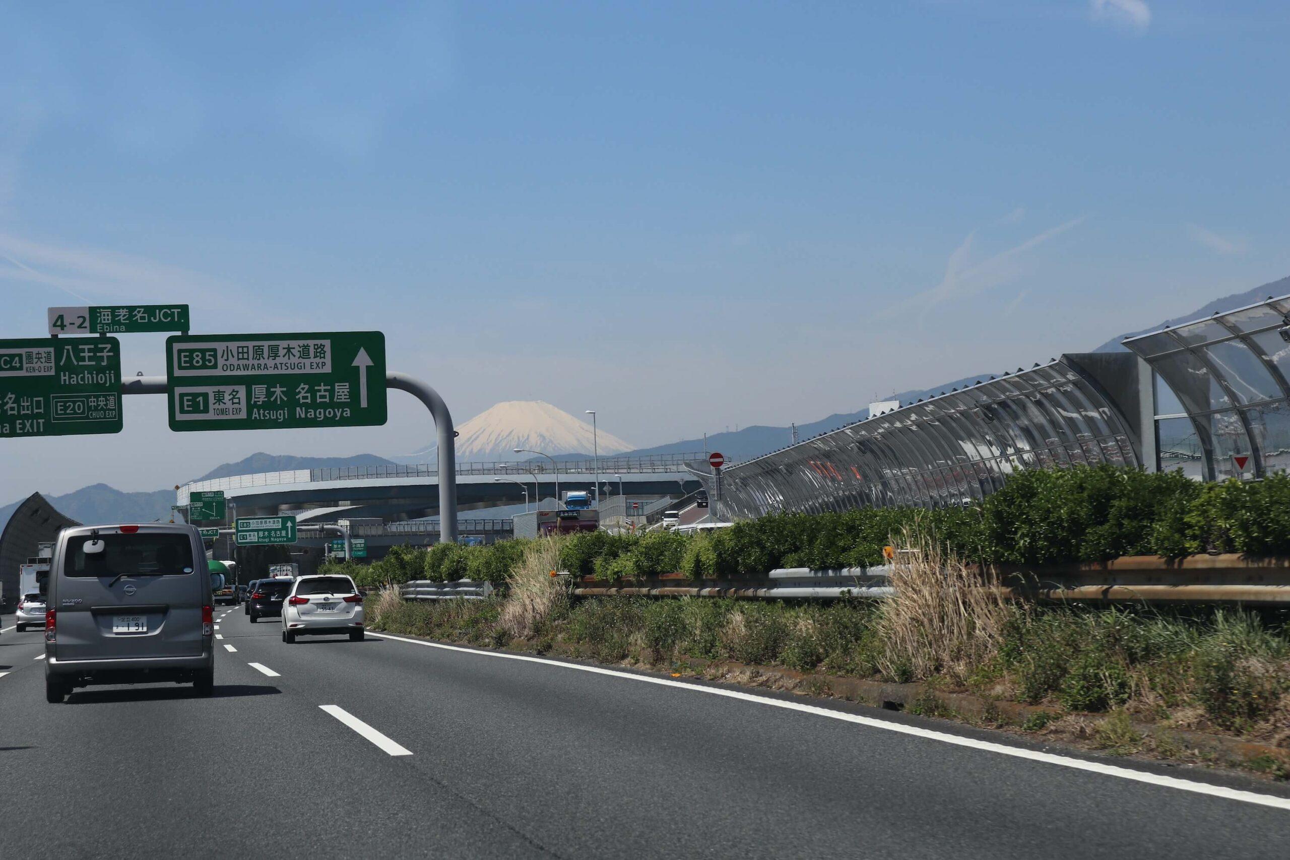 海老名jctから見える富士山