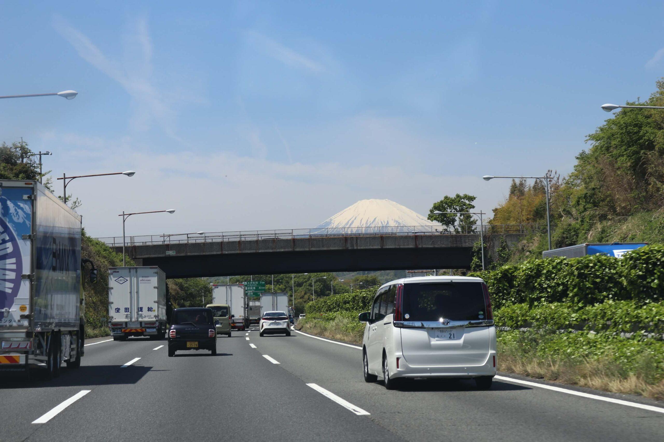大井松田IC〜御殿場ICから見える富士山