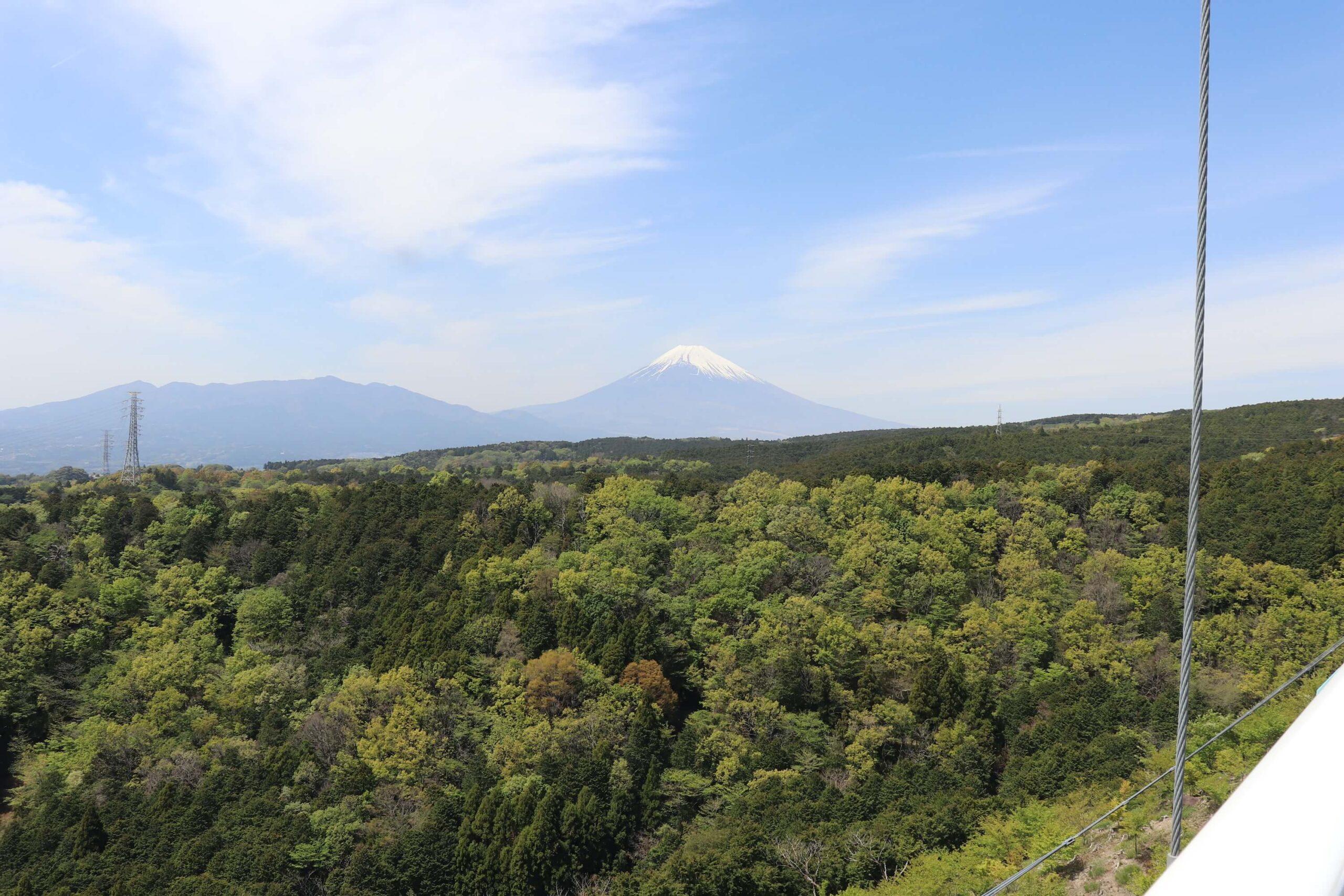 三島スカイウォークから見る富士山