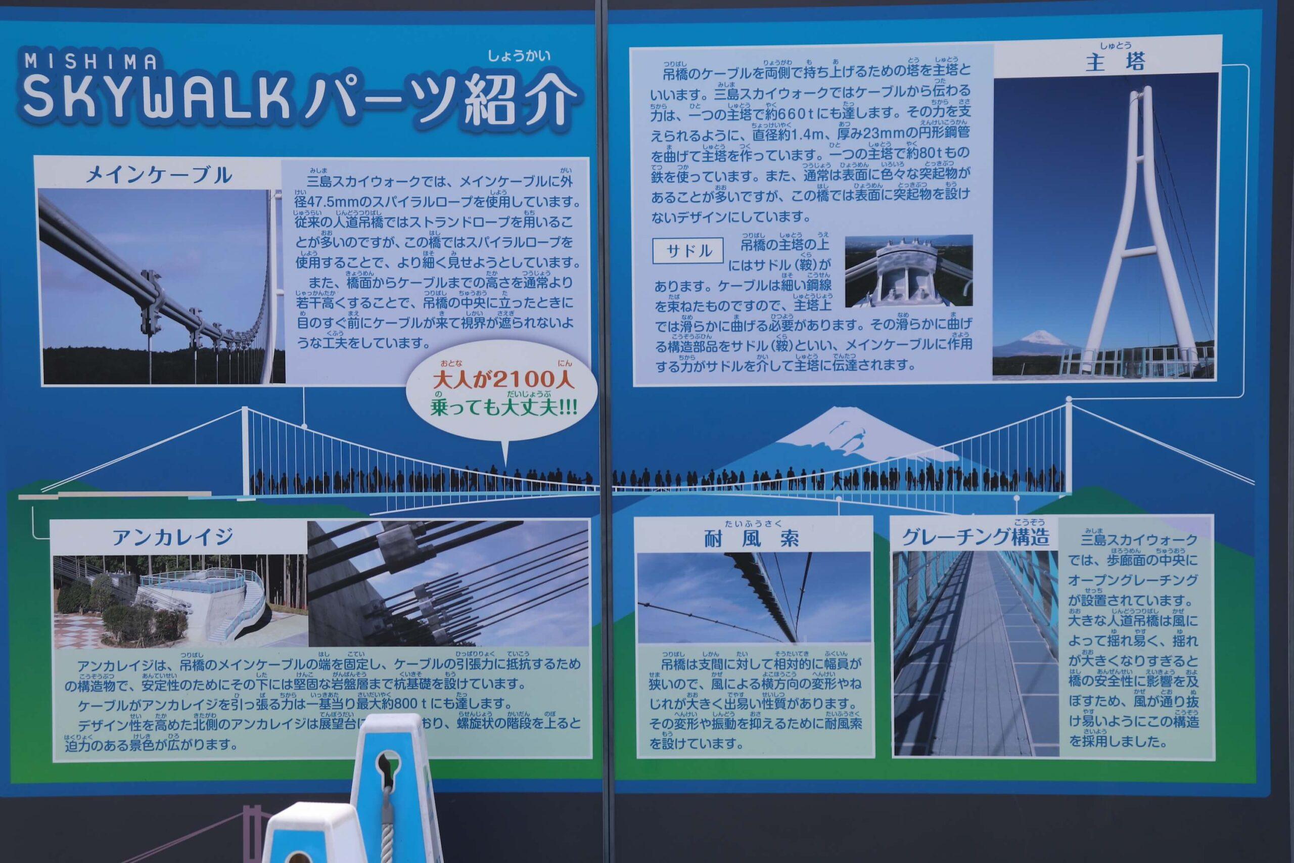 三島スカイウォークの吊り橋