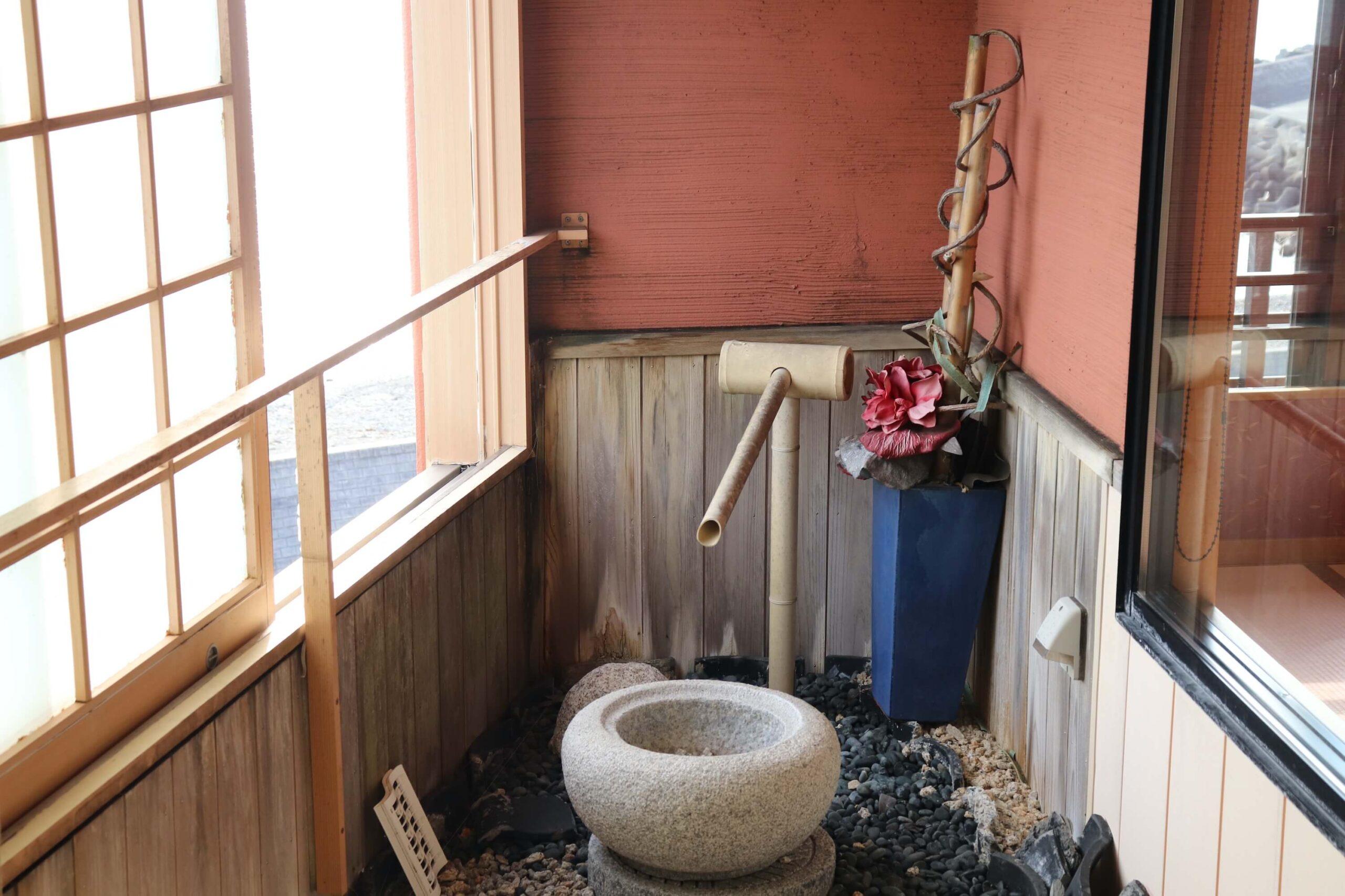 粋松亭やさしさに包まれて客室の露天風呂