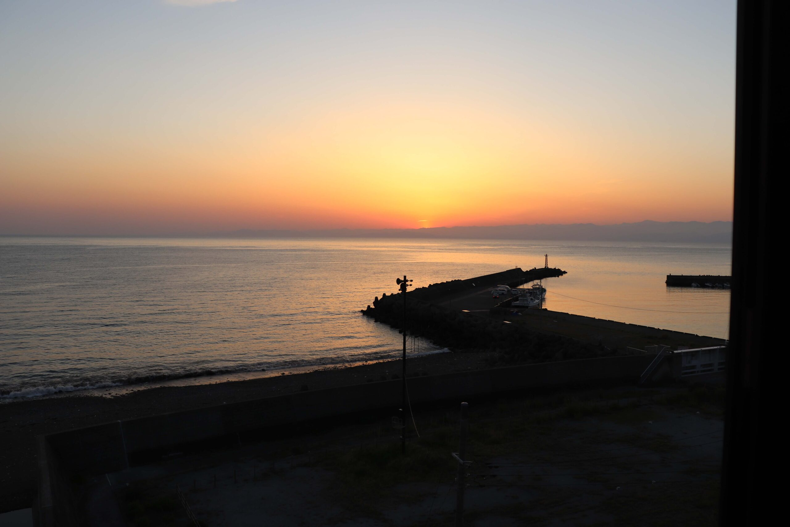 粋松亭の夕陽