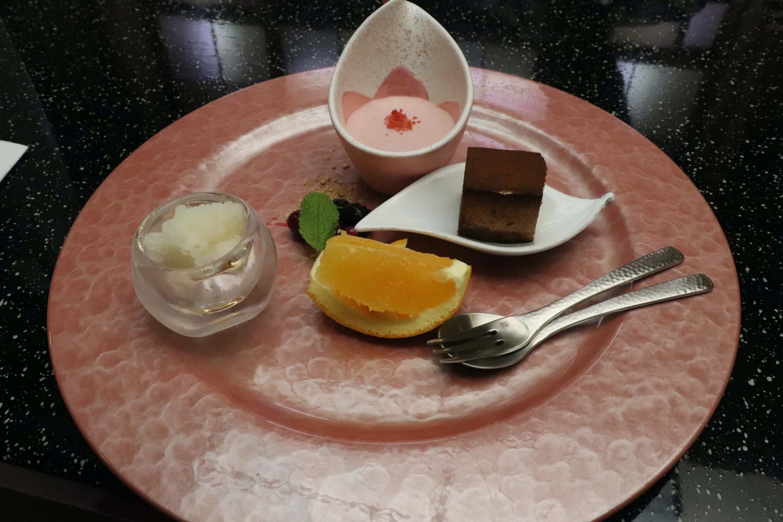 粋松亭の絆会席料理(夕食)のデザート