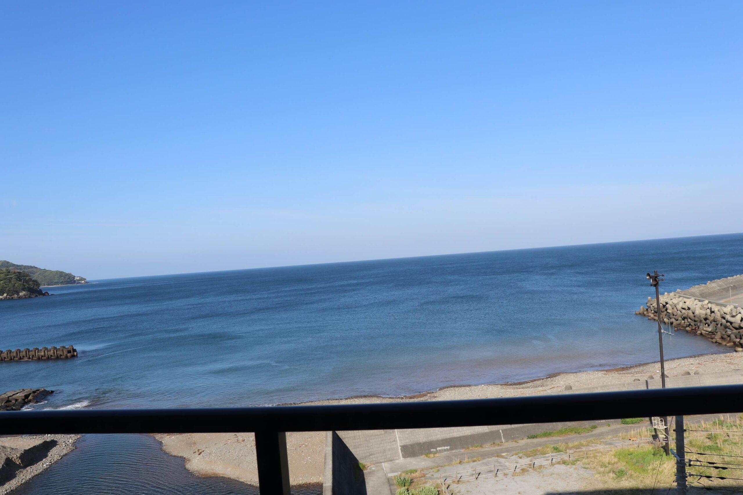 粋松亭からの海の眺め
