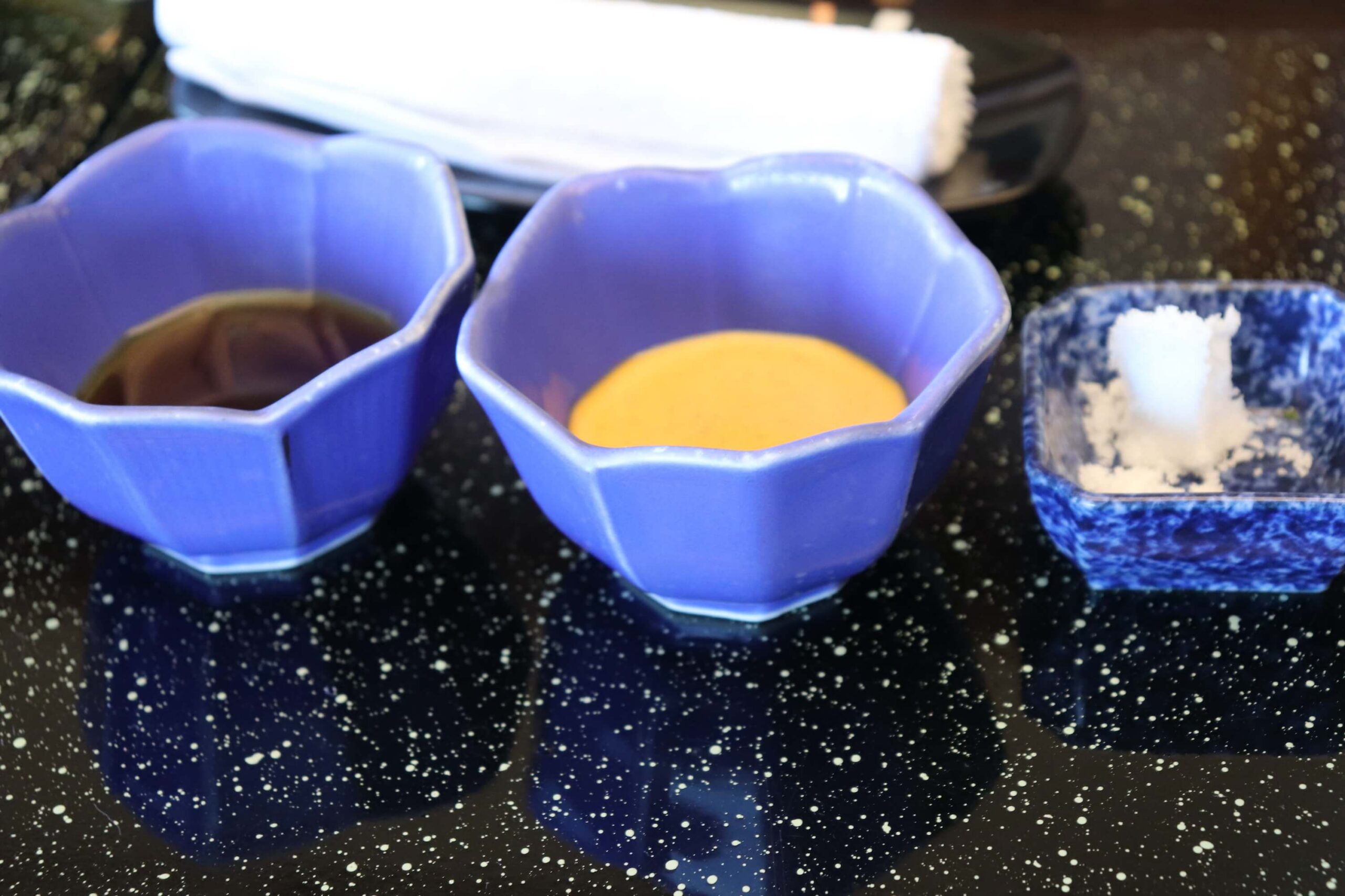 粋松亭の朝食のサラダのドレッシング