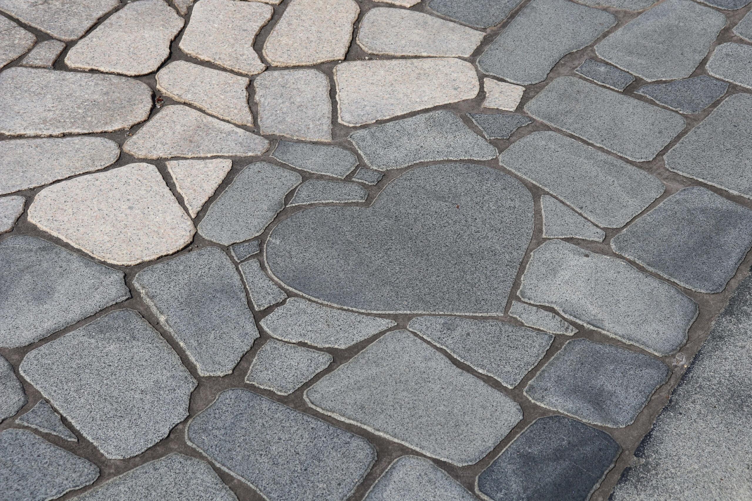 旅人岬のハートの石